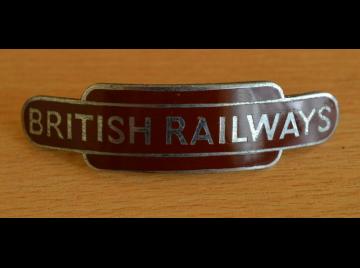 A British Railways Western Region enamel cap badge - J R Gaunt Made,