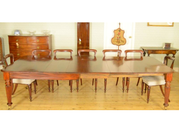 Victorian mahogany dining table, windout