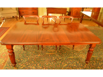 Victorian mahogany wind out dining table, C1840