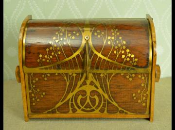 Rosewood Art Nouveau writing box, Erhard & Sohne.