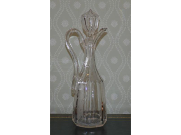 Victorian cut glass claret jug