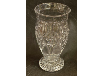Lovely large cut glass vase