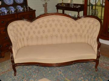 Victorian mahogany sofa