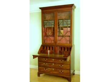 Chippendale period Bureau Bookcase