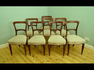 Set of 8 good mahogany dining chairs