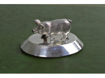 Silver Pig Paper weight  By Sampson Mordan & Co Ltd