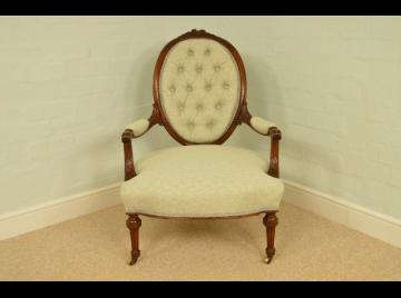 Fine Quality Louis XIV Style, antique Ladies Arm Chair