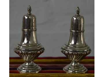 Pair of silver pepperettes