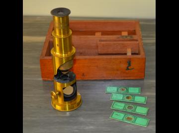 Late Victorian microscope