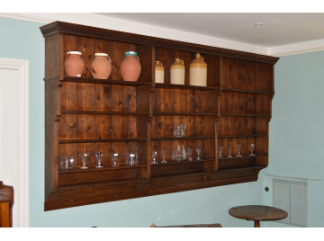 Large 19th Century Oak Wall Hanging Shelves