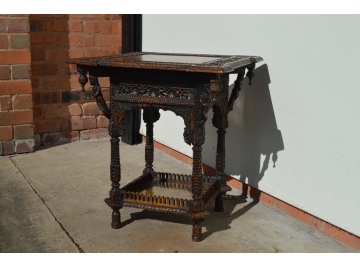 Burmese Padauk Carved Table