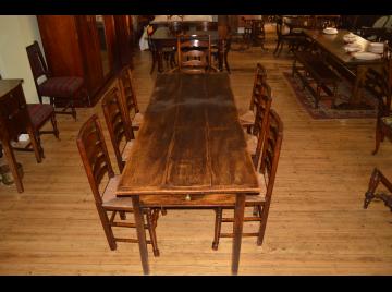 English Elm Farmhouse Table