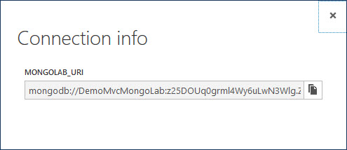Connection Info MongoLab