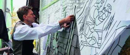 Dachsanierung- Flachdach-Steildach und Metallarbeiten 51377 Leverkusen Arbeiten an einer Ornamentschieferfassade