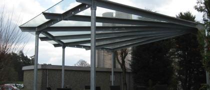 Glasbau und Glaserei Reich 91154 Roth Überdachung Terrasse