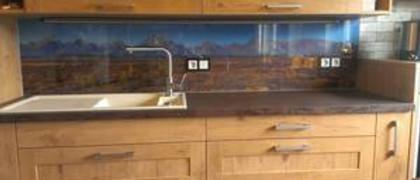 Glaserei Hansen 54597 Schwirzheim Glaswand Küche