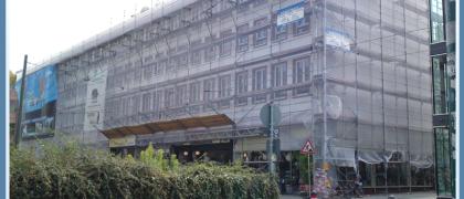 Gerüstbau Buwe 64747 Breuberg Fassadengerüst Rheinstrasse-Friedensplatz