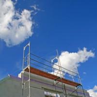 Fahrgerüst als Fassadengerüst