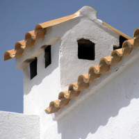 Mönch und Nonne, eine der ältesten Dachziegelformen