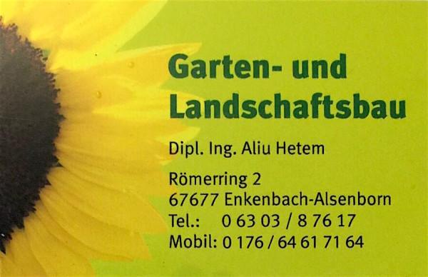 Garten und landschaftsbau visitenkarten  Garten- und Landschaftsbau Aliu | Gartenbau.org