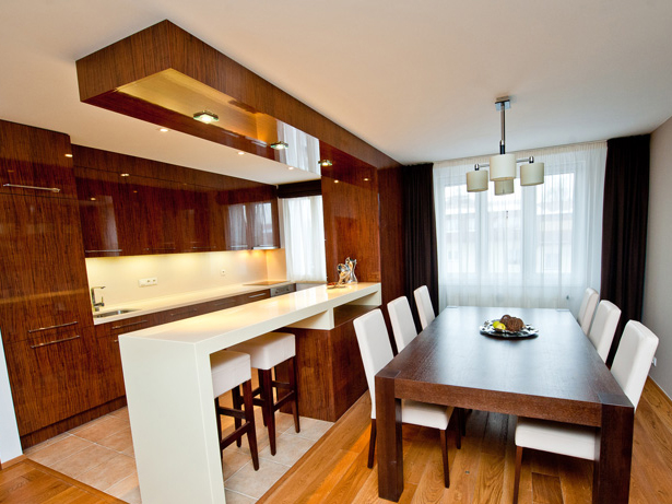 Tischler moderne holzm bel trendiges - Comment amenager une petite cuisine ouverte ...