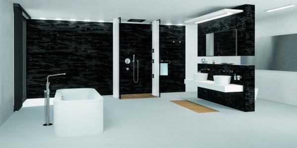 mit einer freistehenden badewanne zum exklusiven badevergn gen. Black Bedroom Furniture Sets. Home Design Ideas