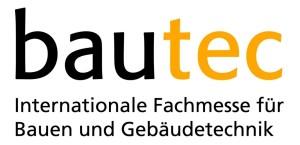 Das Logo der internationalen Fachmesse für Bauen und Gebäudetechnik Bautec.com.