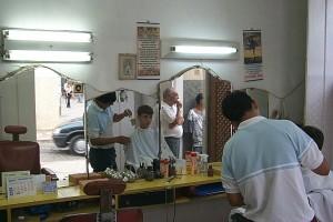 Eines der Mitglieder der Innung der Friseure