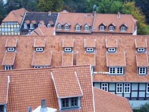 Stehendes Dachfenster in Gaube