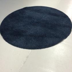 Rya matta i ocanblått. Rund, Dia: 200 cm