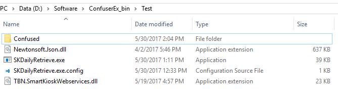 Contoh aplikasi yang akan di obfuscate
