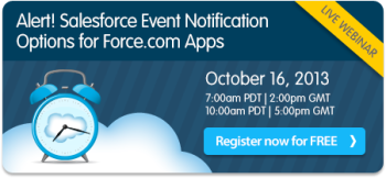 Alert! Salesforce Event Notification Webinar on October 16