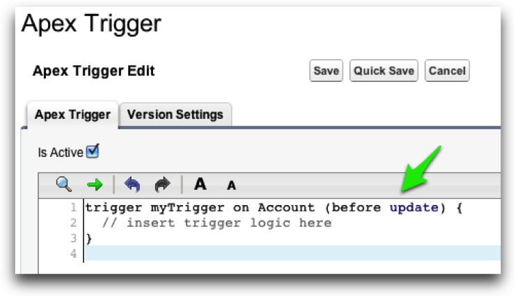 Create a Before-Update Trigger with Force.com