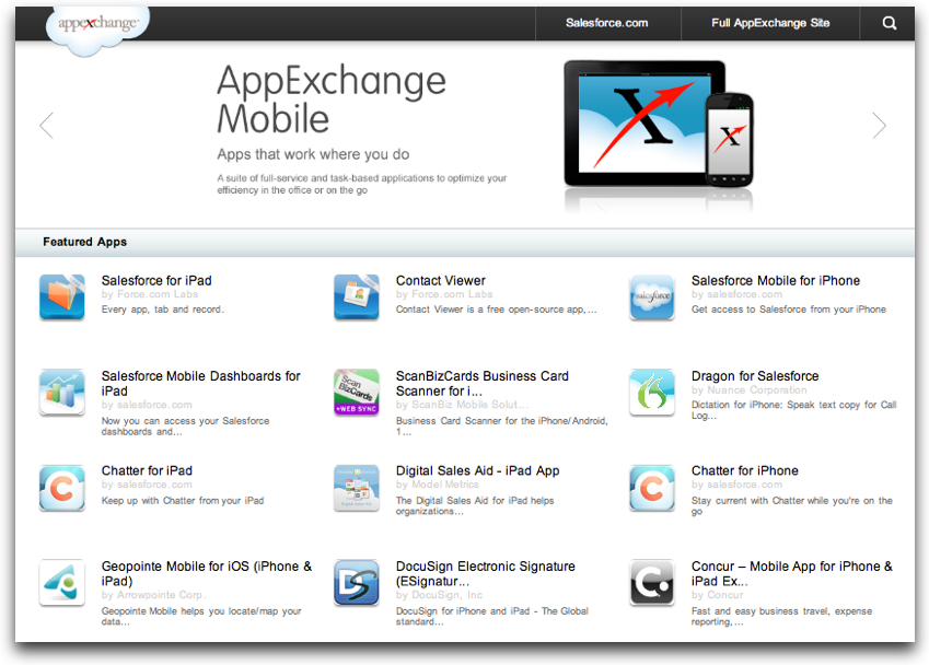 AppExchange Mobile
