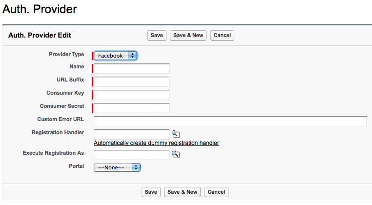 social single sign on authentication providers in spring 12 rh developer salesforce com Salesforce Communities Salesforce Create Options