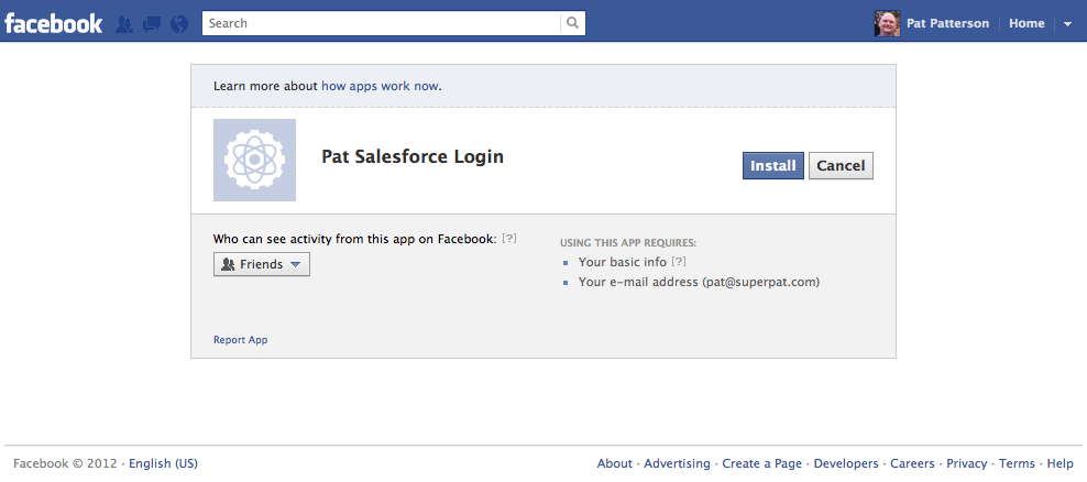 social single sign on authentication providers in spring 12 rh developer salesforce com Salesforce Create New Salesforce CRM Content User