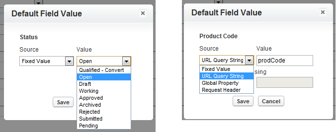 Configuring Default Values