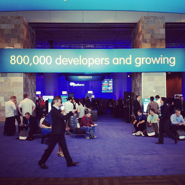 #devzone at Dreamforce 12 Thursday