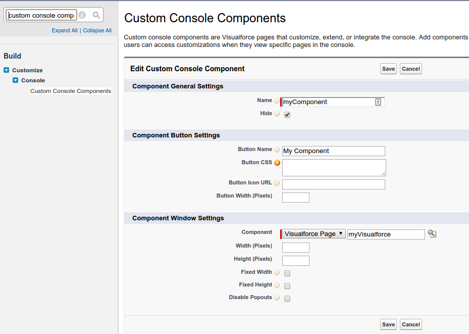 Salesforce Console Tab Switching Screenshot 1
