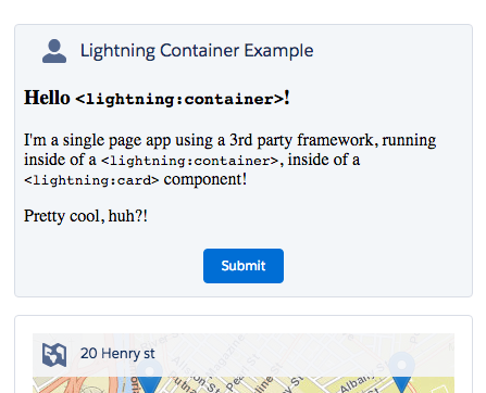 An example of Lightning Container