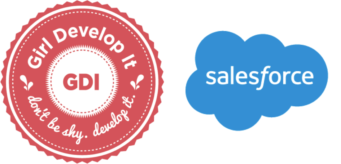 Girl Develop It and Salesforce logos