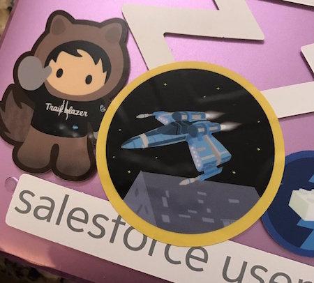 Battle Station sticker on laptop