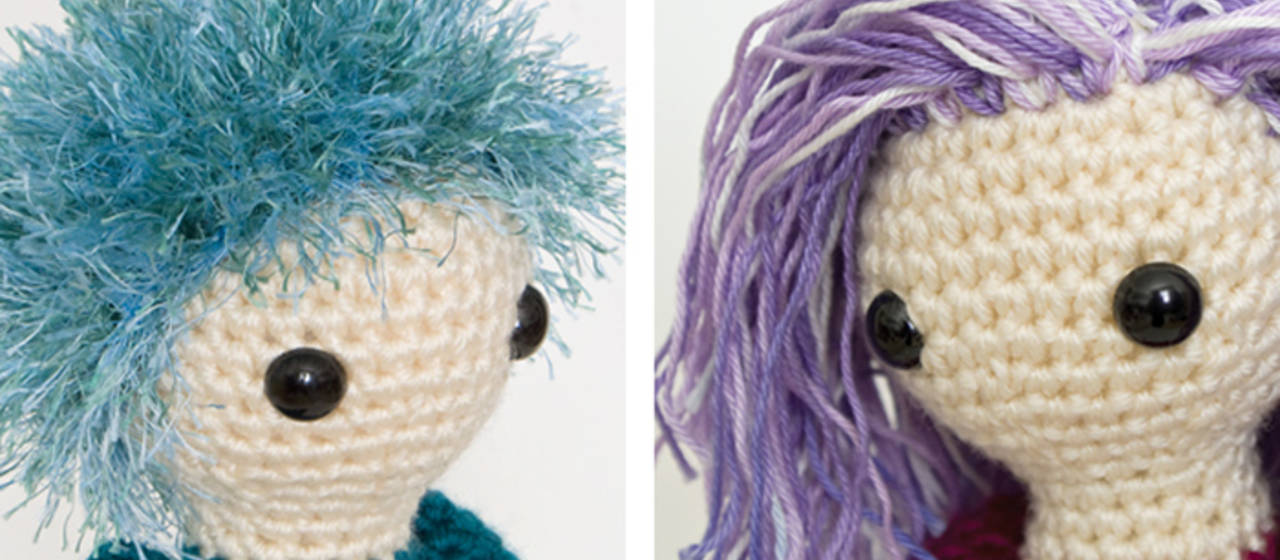 Amigurumi Curly Hair Tutorial : Making Hair for Your Amigurumi How to Crochet Hair ...