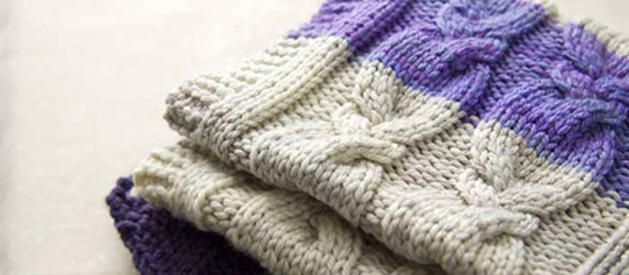 Knitting Pattern For Throw With Cables : How to Knit a Cabled Blanket Cable Knit Blanket Pattern Idiots Guides