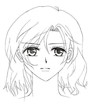 how to draw manga female face