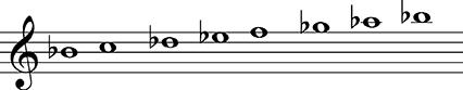a Flat Melodic Minor B-flat Minor B-flat Minor