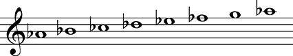 a Flat Melodic Minor A-flat Minor A-flat Minor