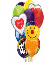 Over The Hill Love & Smiles Balloons