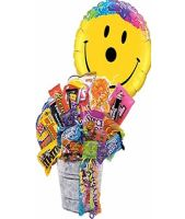 Junk Food Bucket w/Smiley Balloon!