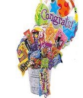 Junk Food Bucket w/Congrats Balloon!